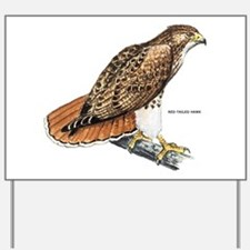 Red-Tailed Hawk Bird Yard Sign