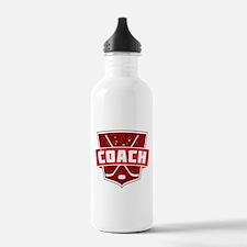 Hockey Coach Shield (red) Water Bottle
