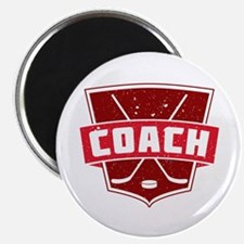 Hockey Coach Shield (red) Magnet