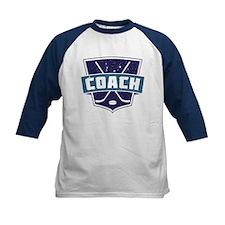 Hockey Coach Shield (blue) Baseball Jersey