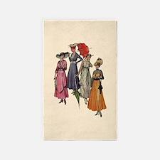 Women's Fashions 1915 3'x5' Area Rug