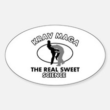 Krav Maga the real sweet science Sticker (Oval)
