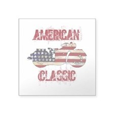 Flag-painted motorcycle-AMERICAN-1 Sticker