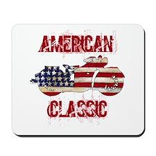 Flag-painted motorcycle-AMERICAN-1 Mousepad