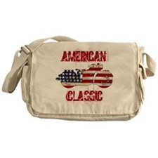 Flag-painted motorcycle-AMERICAN-1 Messenger Bag