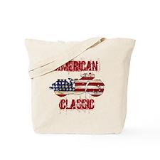 Flag-painted motorcycle-AMERICAN-1 Tote Bag