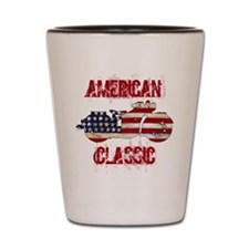 Flag-painted motorcycle-AMERICAN-1 Shot Glass