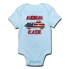 Flag-painted motorcycle-AMERICAN-1 Body Suit