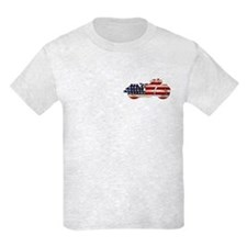 Flag-painted motorcycle-AMERICAN-1 T-Shirt