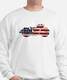 Flag-painted motorcycle-AMERICAN-1 Sweatshirt