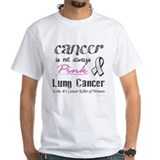 Lung cancer awareness Mens White T-shirts
