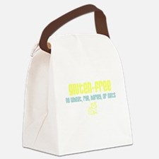 gluten-free - no wheat (with cat) Canvas Lunch Bag