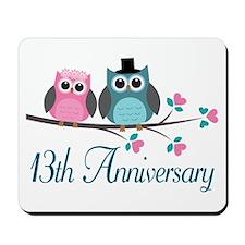 13th Wedding Anniversary Gift Mousepad