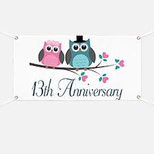13th Wedding Anniversary Gift Banner