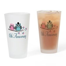 13th Wedding Anniversary Gift Drinking Glass