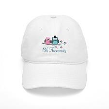 13th Wedding Anniversary Gift Baseball Baseball Cap