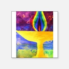 Rainbow Chalice Rectangle Sticker