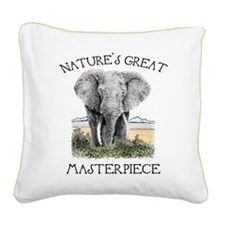 Masterpiece Square Canvas Pillow