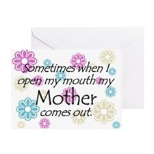 My Mother Comes Out Greeting Card
