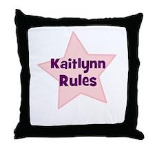 Kaitlynn Rules Throw Pillow