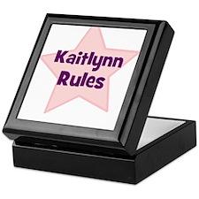 Kaitlynn Rules Keepsake Box