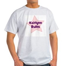 Kaitlynn Rules Ash Grey T-Shirt