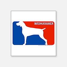 """Weimaraner"" MLD Rectangle Sticker"