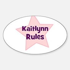 Kaitlynn Rules Oval Decal