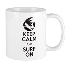 keep calm and surf on Mug