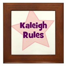 Kaleigh Rules Framed Tile