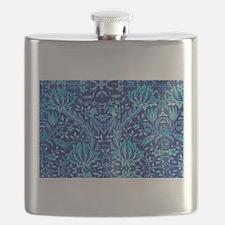Flask Blue Paisley Pattern/Design