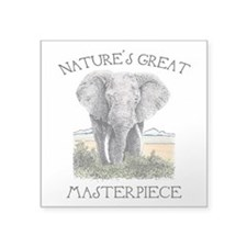 "Masterpiece Square Sticker 3"" x 3"""
