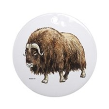 Musk Ox Ornament (Round)