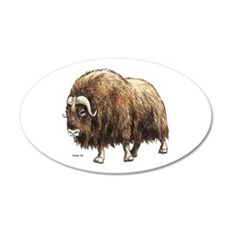 Musk Ox 35x21 Oval Wall Decal