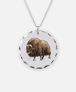Musk Ox Necklace Circle Charm