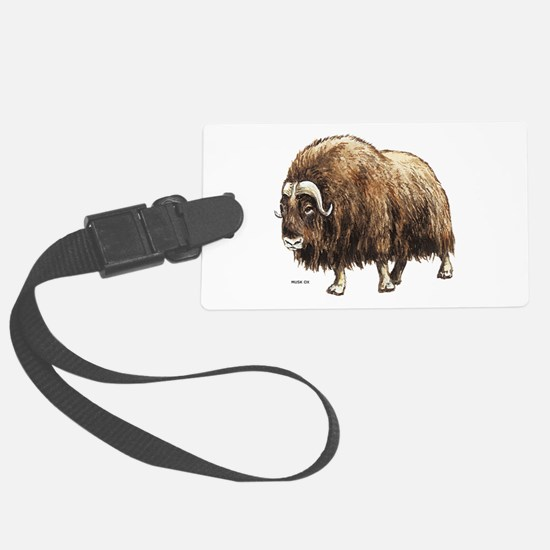 Musk Ox Luggage Tag