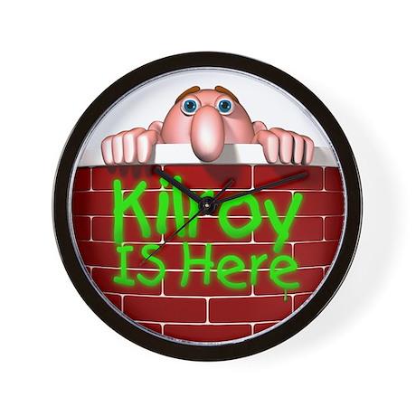 Kilroy IS Here Wall Clock