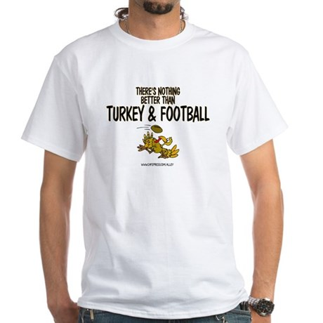 TURKEY & FOOTBALL White T-Shirt