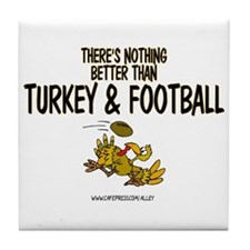 TURKEY & FOOTBALL Tile Coaster