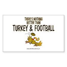TURKEY & FOOTBALL Rectangle Decal