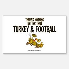TURKEY & FOOTBALL Rectangle Decal