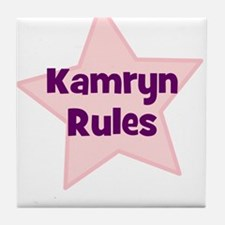 Kamryn Rules Tile Coaster
