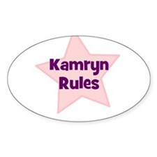 Kamryn Rules Oval Decal