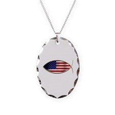 Ichthus - American Flag Necklace