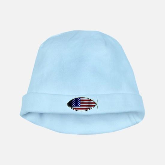 Ichthus - American Flag baby hat