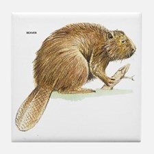 Beaver Animal Tile Coaster