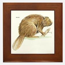 Beaver Animal Framed Tile
