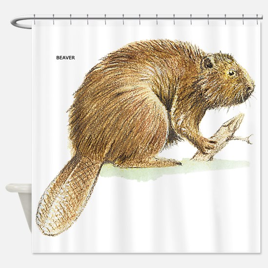 Beaver Animal Shower Curtain