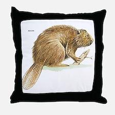 Beaver Animal Throw Pillow