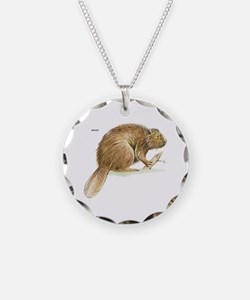 Beaver Animal Necklace